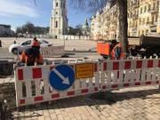 На Софийской площади обустроят современный пешеходный переход (фото)